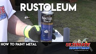 Painting metal using Rustoleum