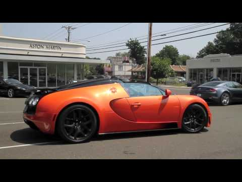 Orange Bugatti Veyron Grand Sport Vitesse