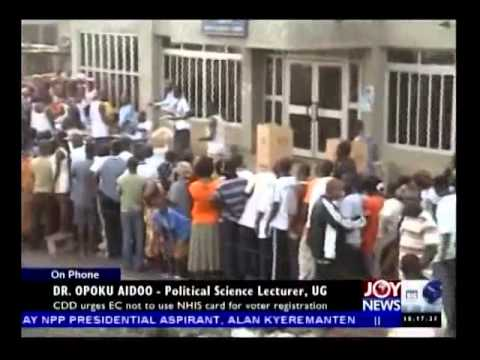 Voter Registration in Ghana - Today's Big Story on Joy News (15-7-14)