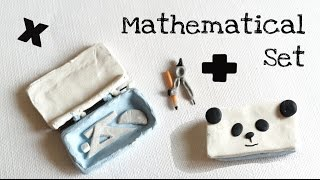 [BACK TO SCHOOL] Polymer Clay Miniature Mathematical Set