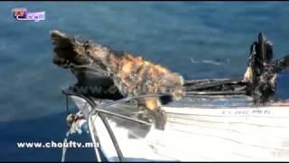 بالفيديو..اندلاع حريق بمراكب سياحية بميناء المضيق  