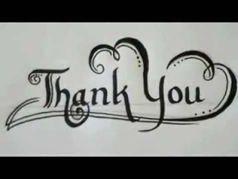 Calligraphy examples of thank you letter youtube Calligraphy youtube