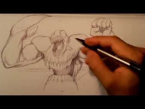 Monster Speed Drawing - Easy Things to Draw