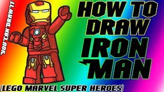 How To Draw Iron Man From Lego Marvel Super Heroes