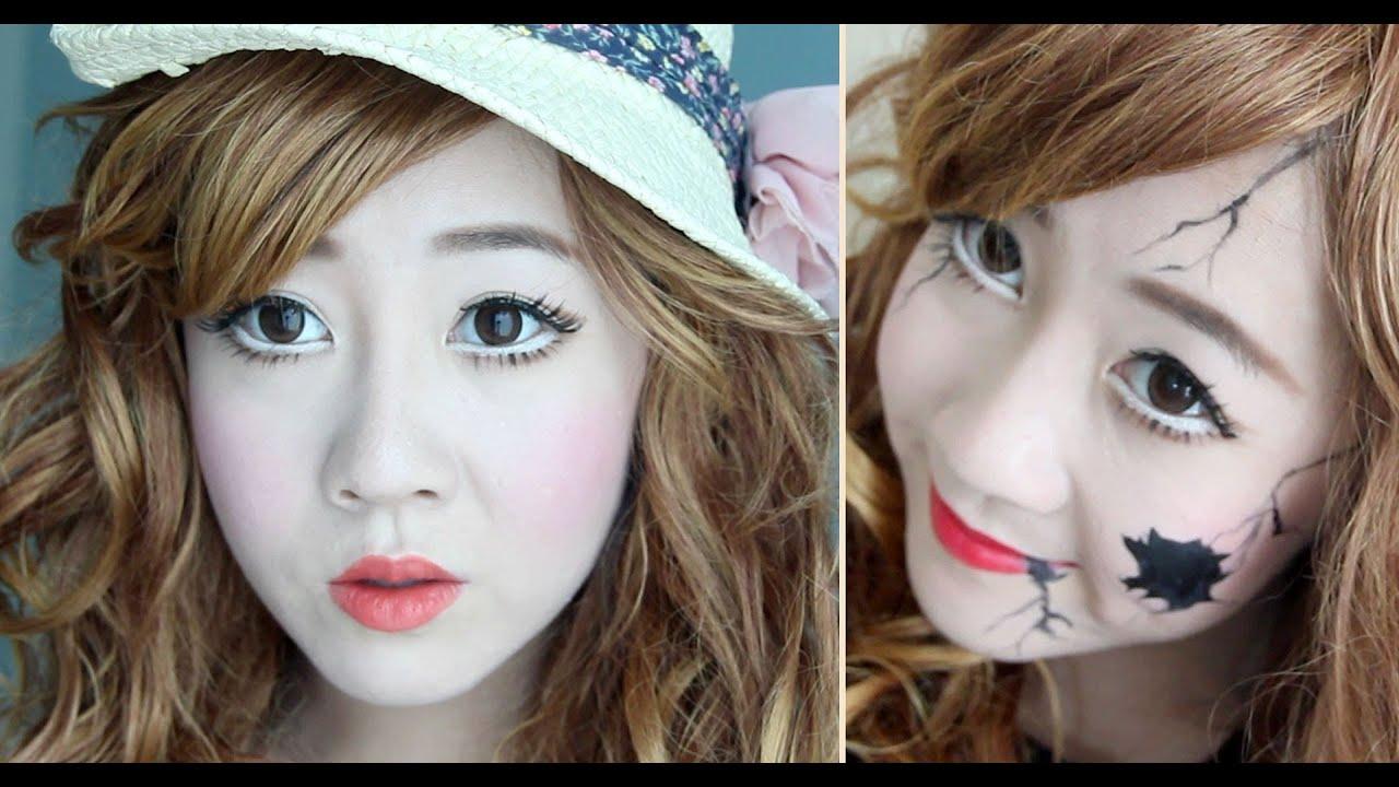 broken porcelain doll face makeup wwwimgkidcom the