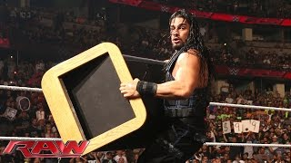 """Roman Reigns Crashes Seth Rollins And Kane's """"eulogy"""" For"""
