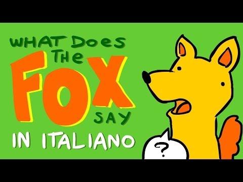 What Does the Fox Say in ITALIANO con Google Translate - Scottecs Parody Cartoons
