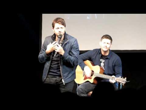 Misha and Jensen singing,