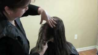 Curso de Peluquería - Como cortar el pelo en capas 2/2