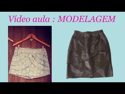 Molde short saia camada de babados por Alana Santos Blogger