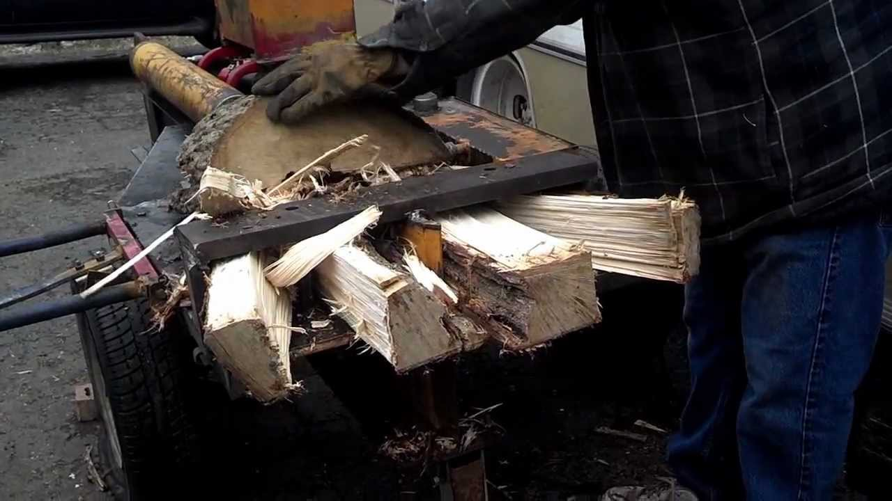 Dad 39 S Homemade Diy Log Wood Splitter Youtube