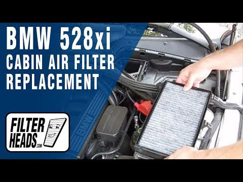 Cabin Air Filter Replacement Bmw 528xi Youtube