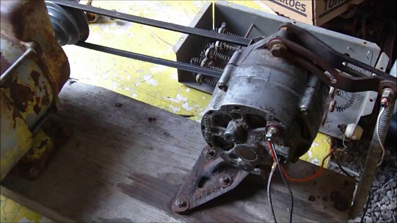 Alternator Demo  Self Energize  Generator  Arc Welder