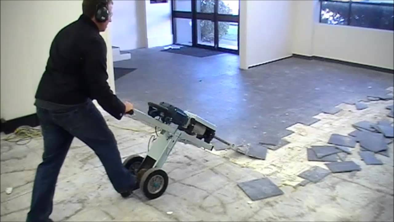 Jackhammer Trolley JHT FASTEST WAY TO REMOVE FLOOR TILES YouTube