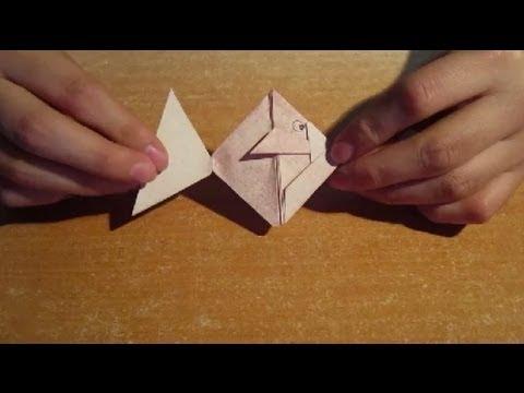 Hacer un pez de papel Origami Papiroflexia