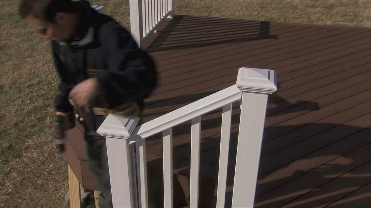 Veranda Pvc Stair Rail Installation Spanish Youtube