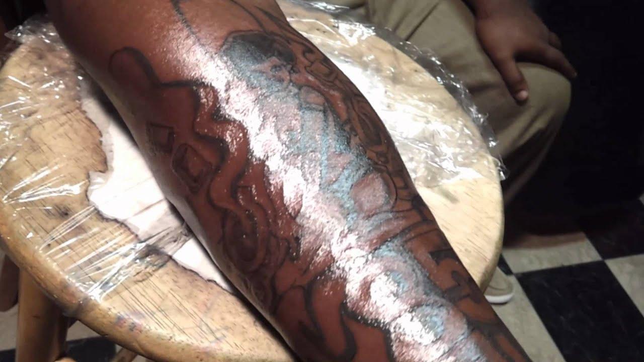 Custom tattoo sleeve youtube for Dynamic black tattoo ink review