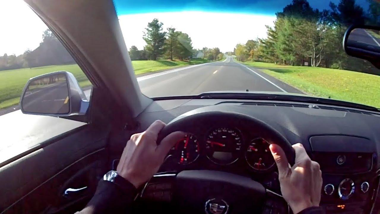 2010 Cadillac Cts V Sedan Wr Tv Pov Test Drive Youtube