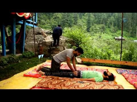 Ayurvedic massage for backpain: Monsoon Curing & Calming Camp in Himachal