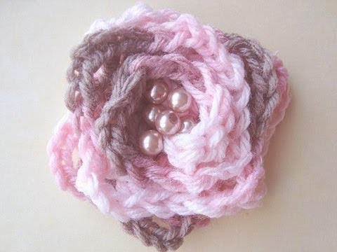 Youtube Crocheting For Beginners : How to crochet a flower, slow enough for beginners. - YouTube