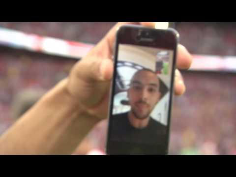 AMAZING: Jenko, Poldi and Chambo FaceTime Theo Walcott on the pitch!