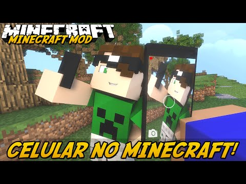Minecraft Mod: CELULAR NO MINECRAFT! (iPhone // EyeMod)