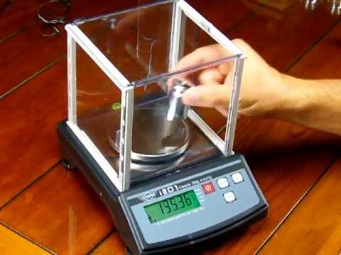 My Weigh i201 electronic scale calibration procedure - YouTube