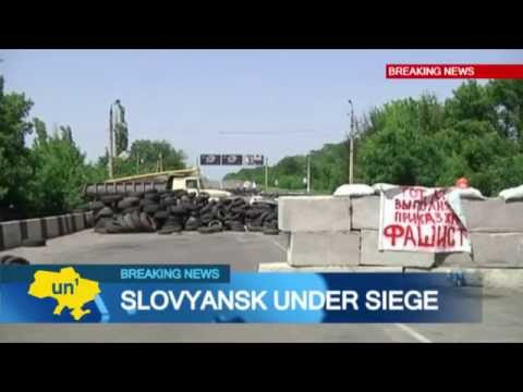 Slovyansk under Siege: Residents of eastern Ukrainian city evacuate children amid fighting