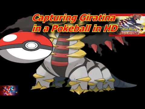 Pokemon Omega Ruby 3DS USA Version Capturing Giratina in a Pokeball in HD