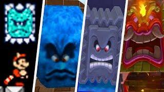 Evolution of Thwomp in Super Mario Games (1988 - 2017)