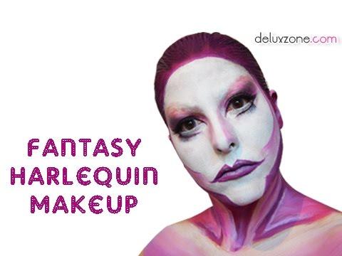 Maquillaje Halloween Arlequín - Fantasy Harlequin
