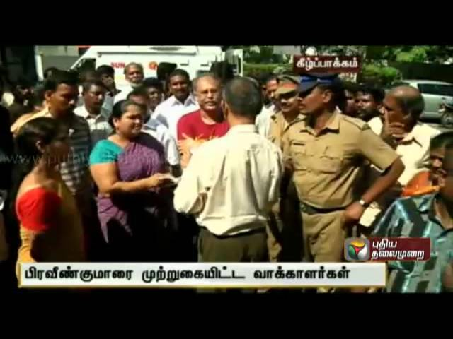 Voters complain on Polling to Praveen Kumar