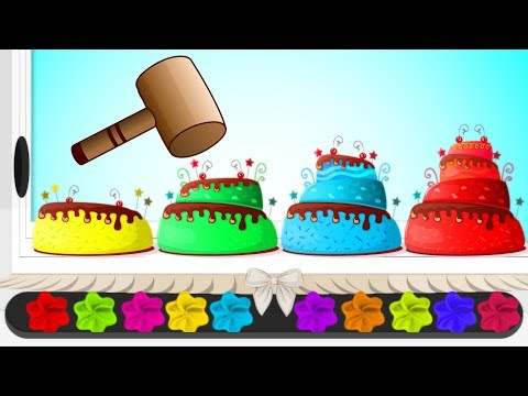 Learn Colors With Cakes Xylophone Yummy Cake Icing Learn Colors Videos for Children by HooplaKidz