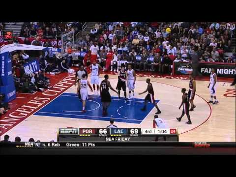 Jamal Crawford Blazers vs Clippers 3 30 12