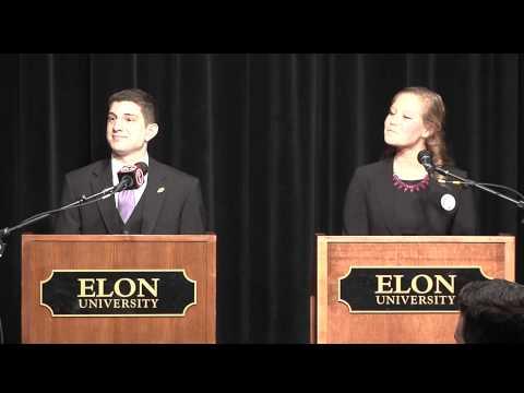 ELN SGA Elections 2014: Jessica Petrillo & Joseph Incorvia - Executive President Debate