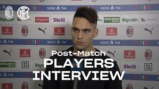 AC MILAN 0-3 INTER   LAUTARO MARTINEZ + SAMIR HANDANOVIC EXCLUSIVE INTERVIEWS [SUB ENG] 🎙️⚫🔵??