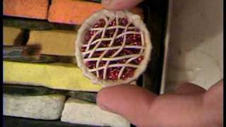 Cherry Pie. How To Make A Polymer Clay Cherry Pie In