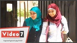 بالفيديو.. طالبتان فقط تؤديان امتحان الجبر والهندسة بمدرسة المنيرة.. وتؤكدان: الامتحان صعب