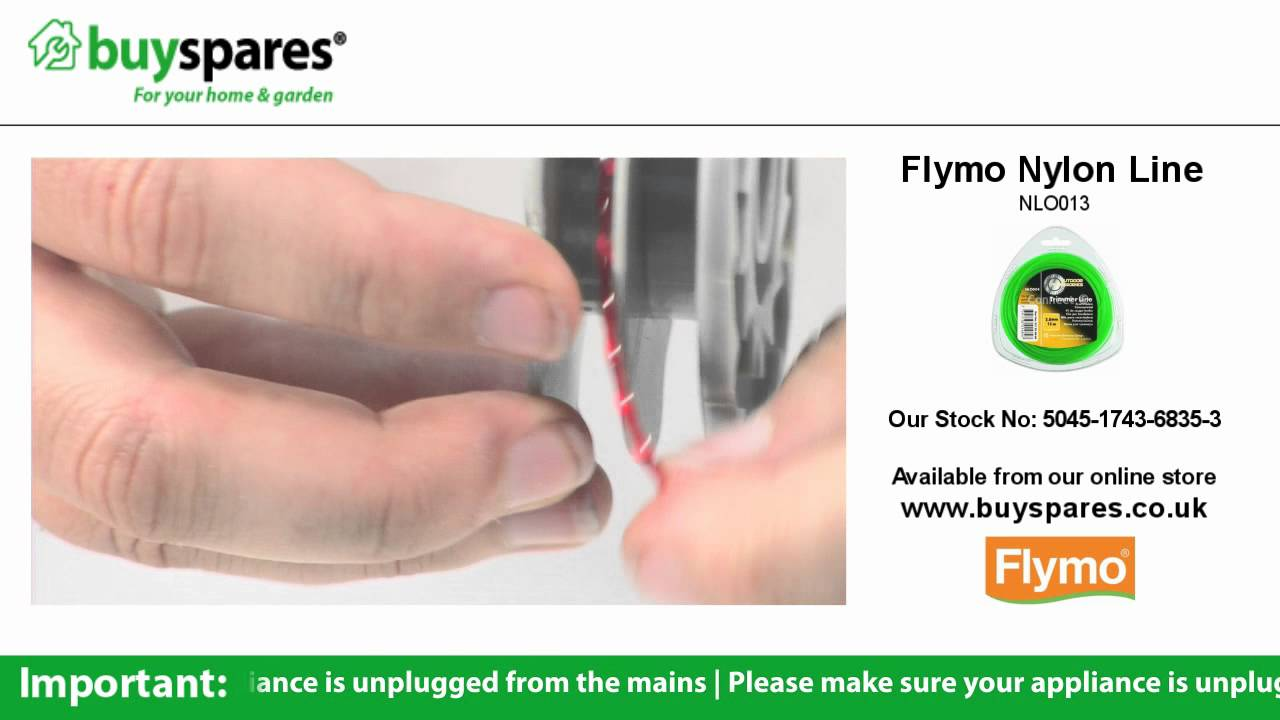 how to replace the spool and line on a flymo trimmer youtube. Black Bedroom Furniture Sets. Home Design Ideas
