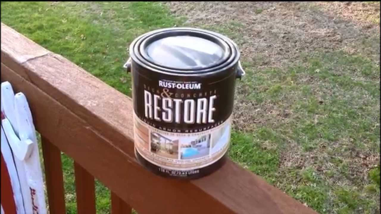 Problems with Rustoleum Restore - YouTube