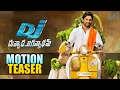 First look motion teaser of Allu Arjun's Duvvada Jagannadh..