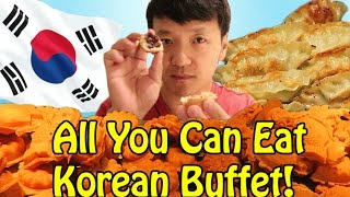 TRADITIONAL Korean ALL YOU CAN EAT Buffet in Seoul South Korea!