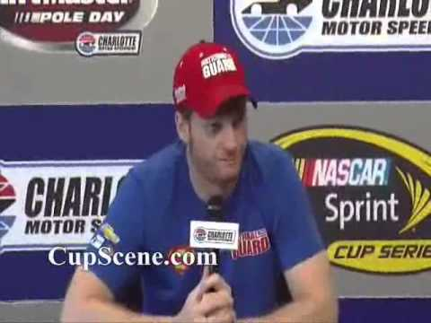 NASCAR at Charlotte Motor Speedway, May 2014: Dale Earnhardt Jr. pre-race