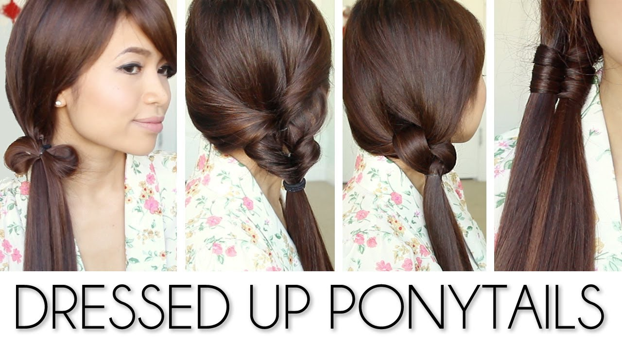 Ponytail Hairstyles for Medium Long Hair Tutorial - Bebexo - YouTube