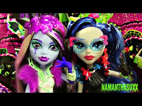 MONSTER HIGH SWEET SCREAMS ABBEY BOMINABLE GHOULIA YELPS DOLL REVIEW VIDEO!!!