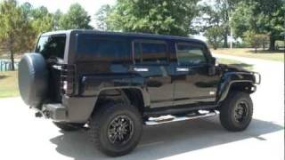 SOLD !! 2007 HUMMER H3 LUXURY MT WHEELS BLACK FOR SALE SEE WWW SUNSETMILAN COM videos
