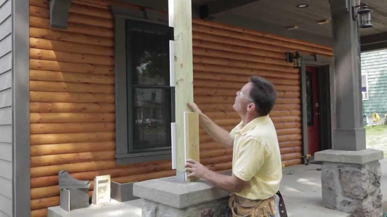 Fypon column wrap installation part 1 youtube for Fypon column