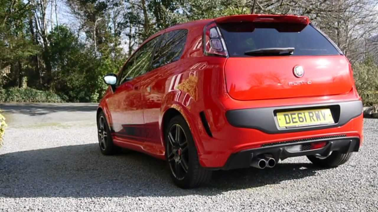 2012 abarth punto evo red with black stripes youtube. Black Bedroom Furniture Sets. Home Design Ideas
