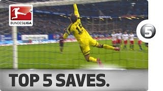 Top 5 Saves - great moves by Neuer, Ter Stegen, Leno and more