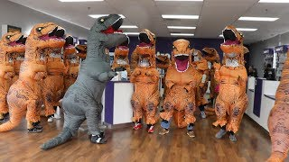Walking Into Random Stores With 100 Dinosaurs